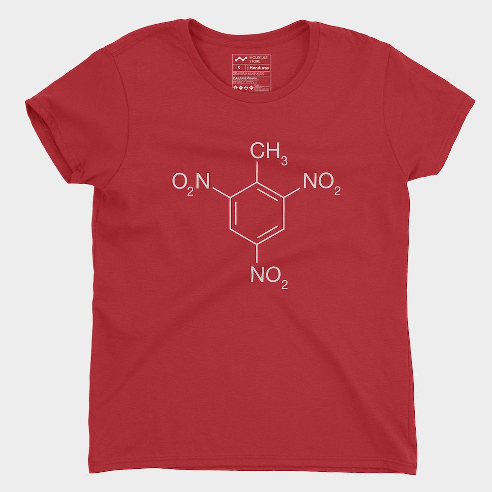 TNT Molecule T-Shirt Red Ladies