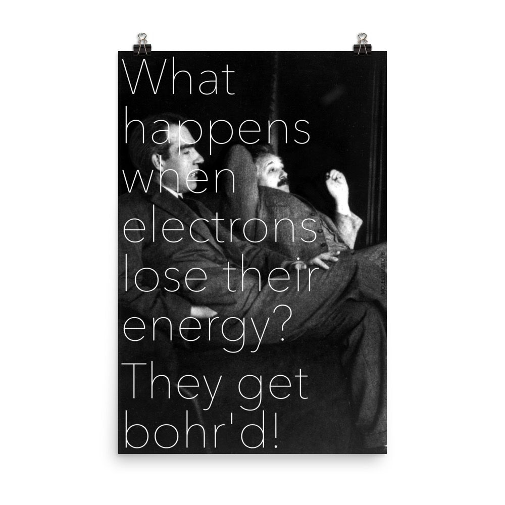 Bohr'd Electrons Poster 24x36