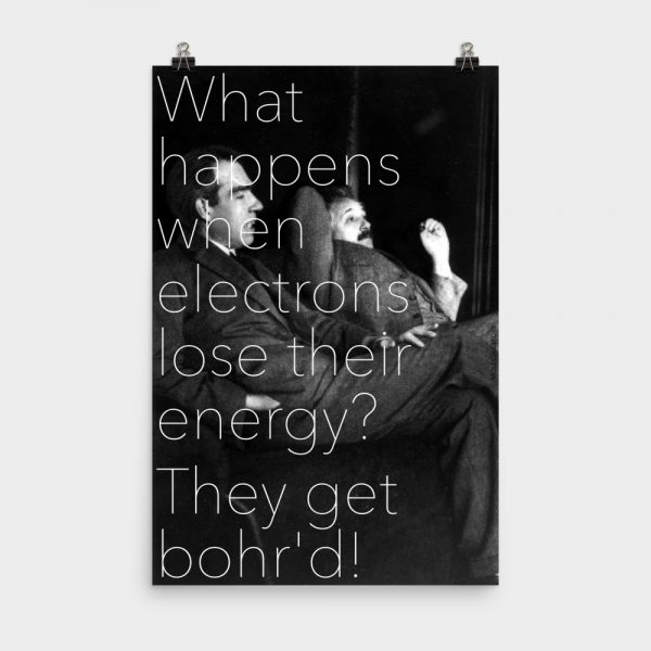 Bohr'd Electrons Print 24x36
