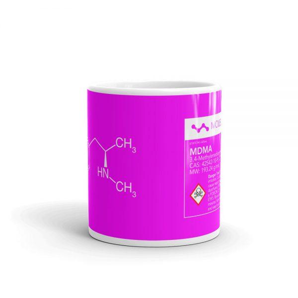 MDMA Molecule Pink Mug Center