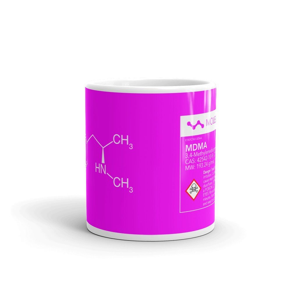 MDMA Molecule Pink Mug Center