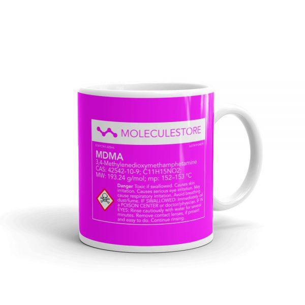 MDMA Molecule Pink Mug Right