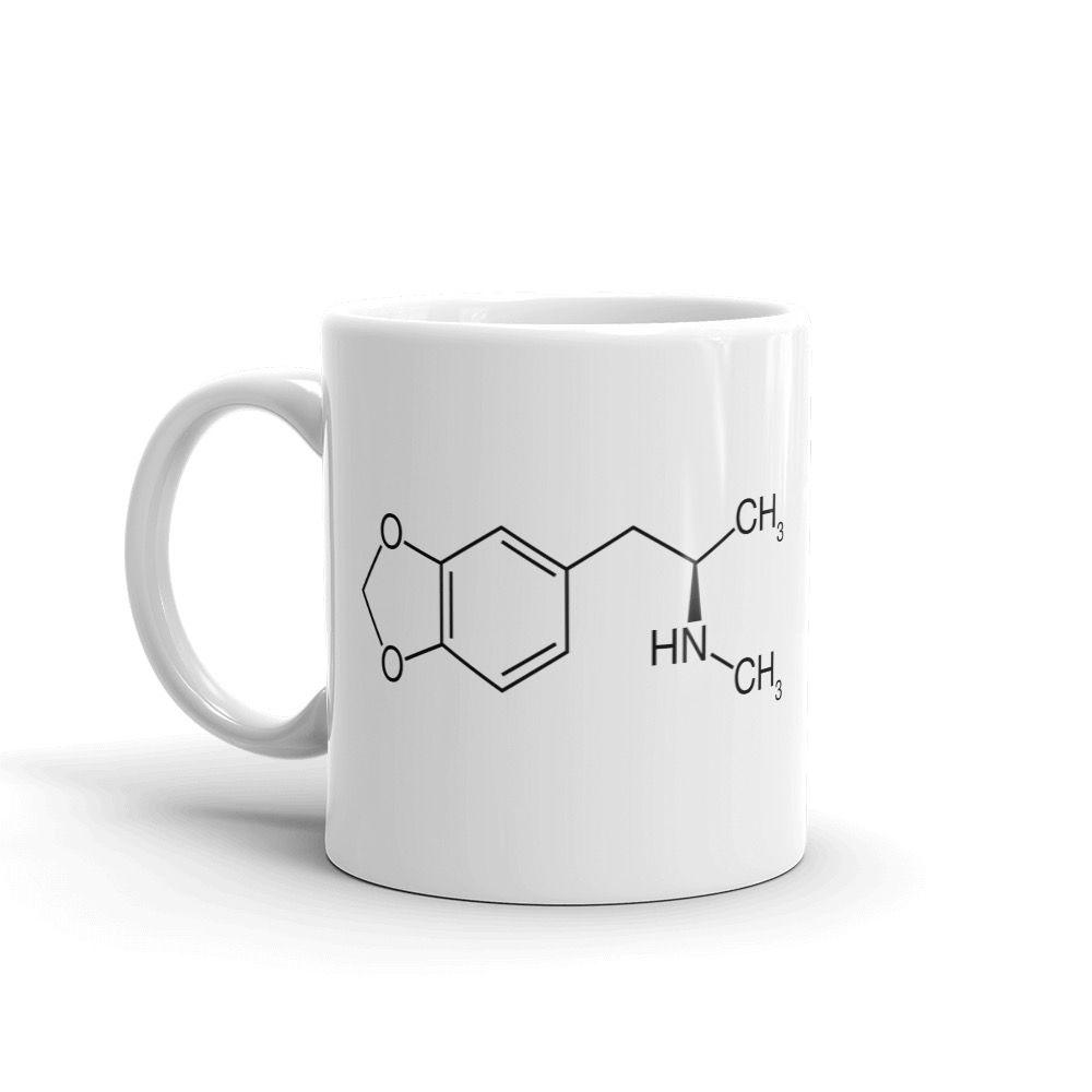 MDMA Molecule White Mug Left