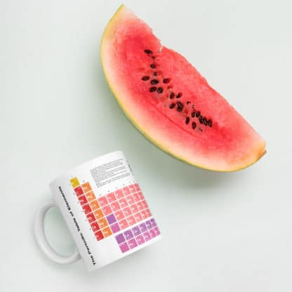 Periodic Table Mug Water Melon