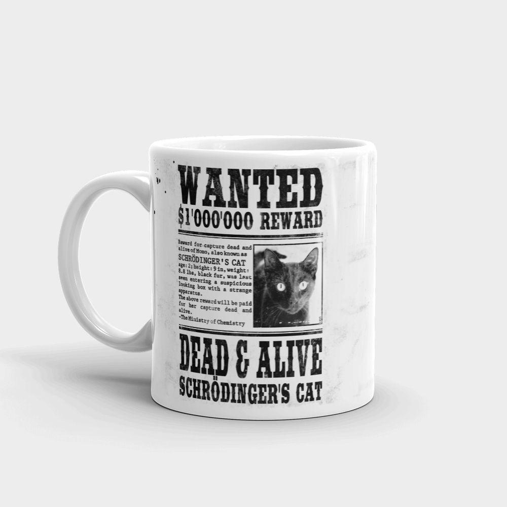 Schrödinger's Cat Wanted Mug Left
