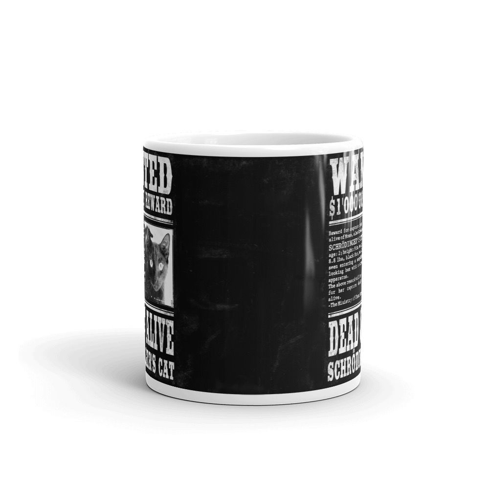 Schrödinger's Cat Wanted Mug Black Center