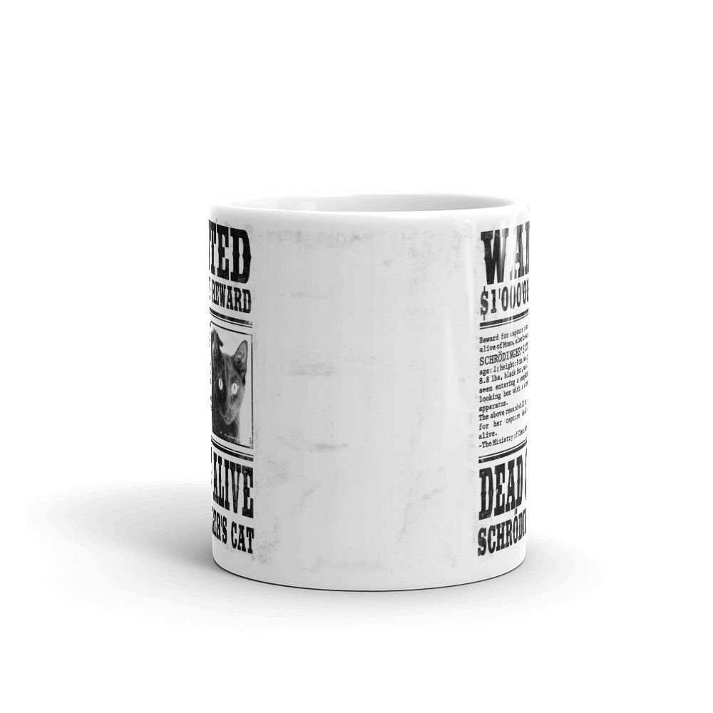 Schrödinger's Cat Wanted Mug White Center
