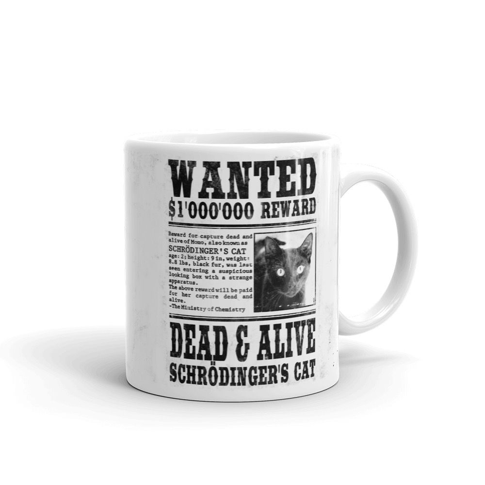Schrödinger's Cat Wanted Mug White Right