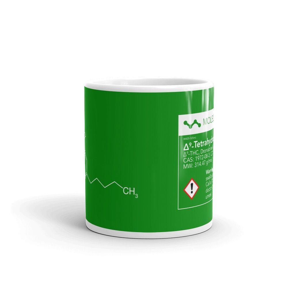 THC Molecule Mug Green Center
