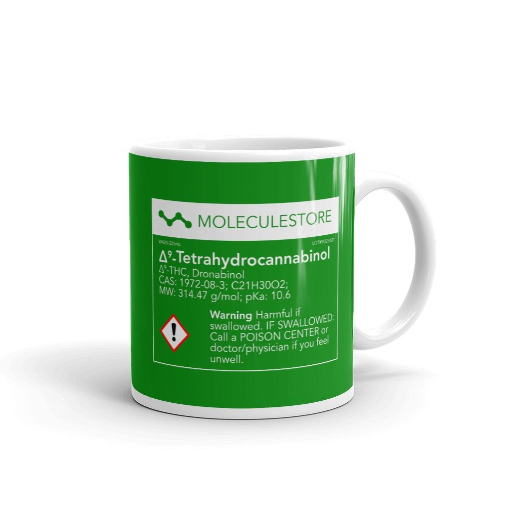 THC Molecule Mug Green Right