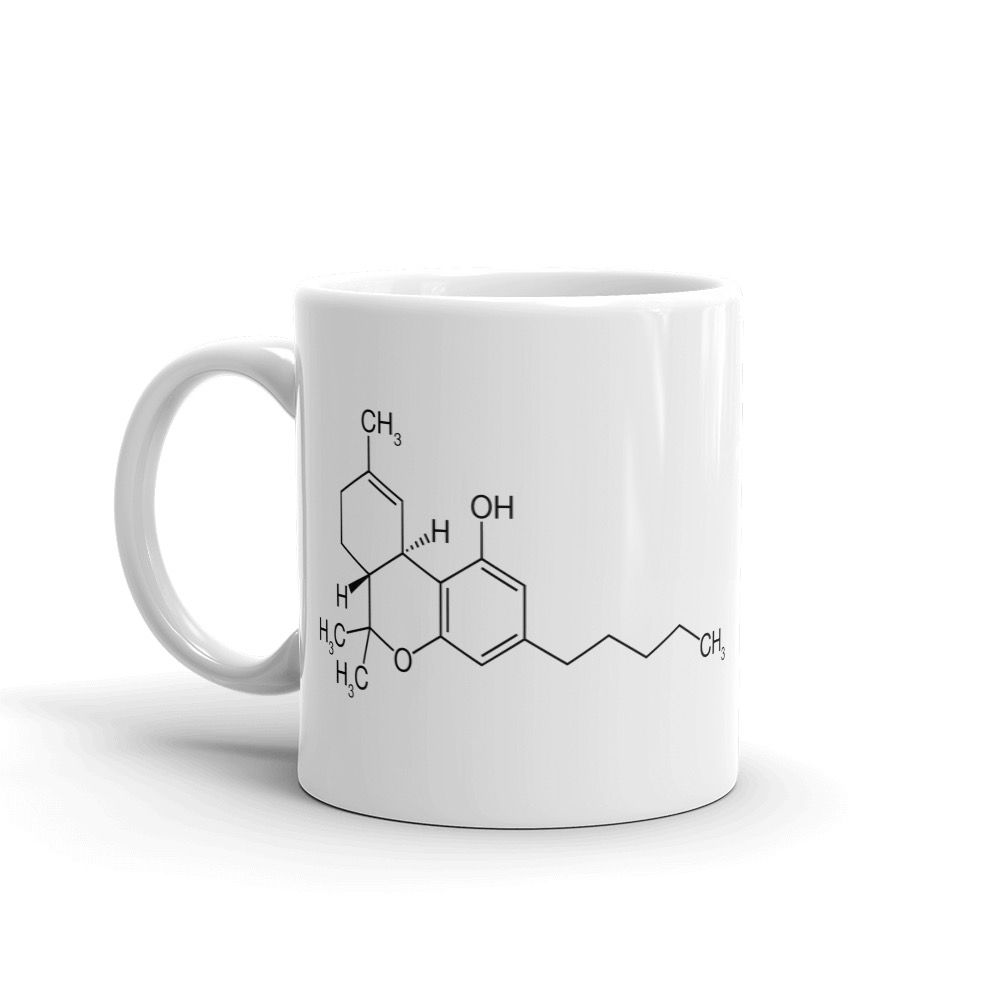 THC Molecule Mug White Left