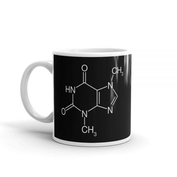 Theobromine Molecule (Chocolate) Mug Black Left