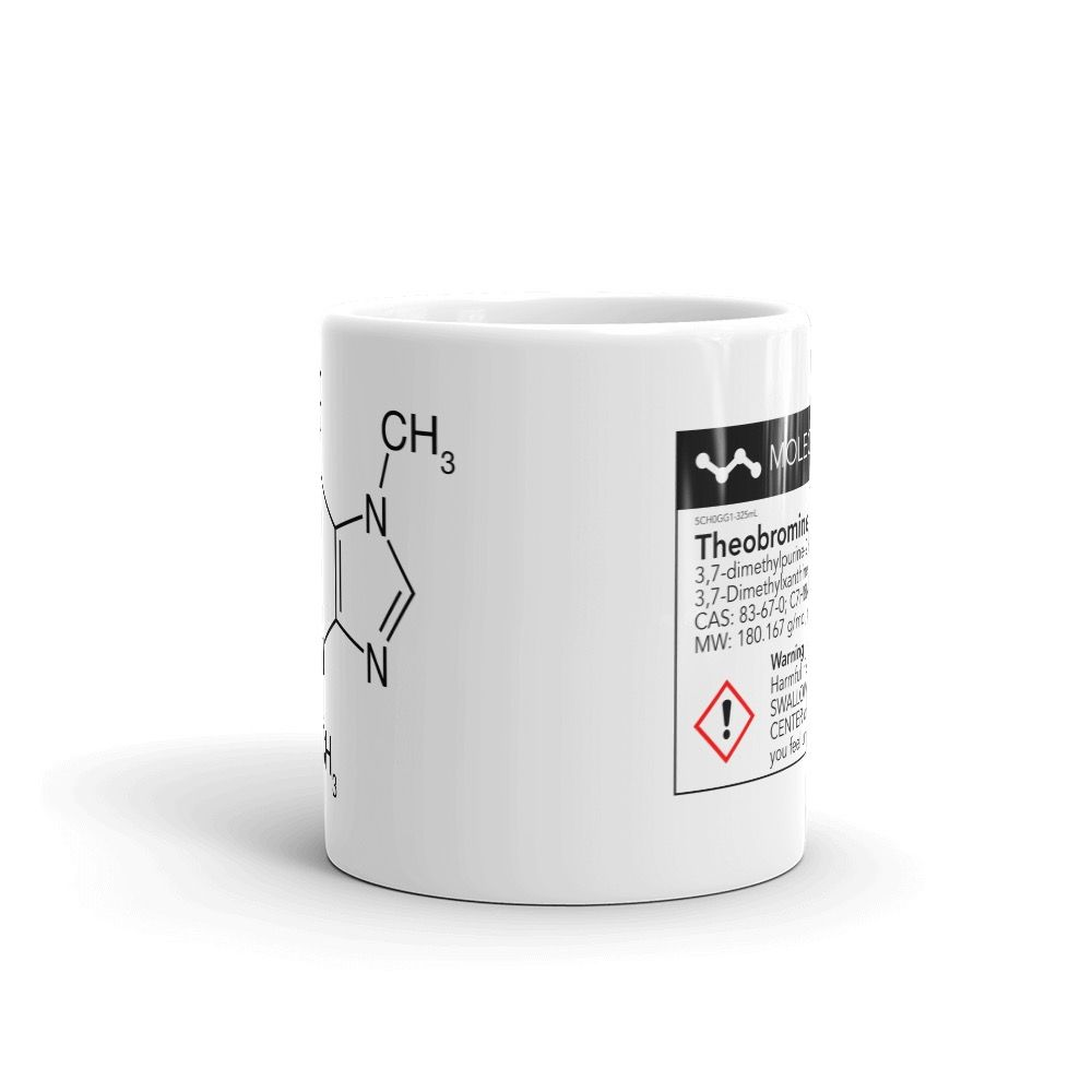 Theobromine Molecule (Chocolate) Mug White Center