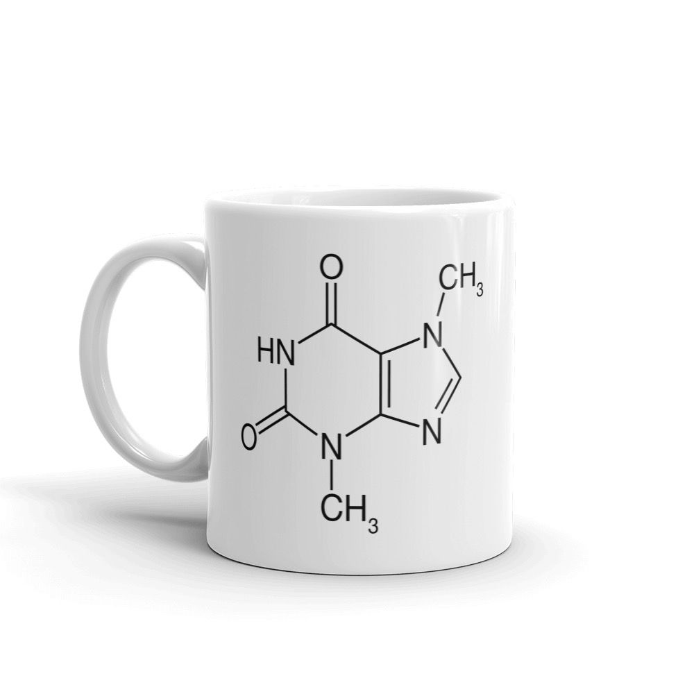 Theobromine Molecule (Chocolate) Mug White Left