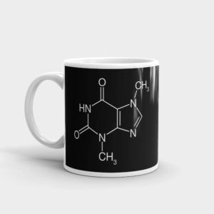 Theobromine Molecule (Chocolate) Mug Black Left