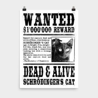 Wanted Schrödingers Cat Poster 18×24