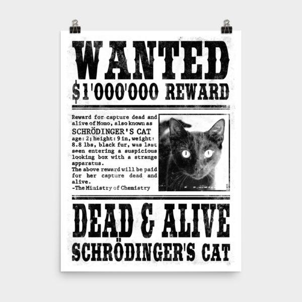Schrödinger's Cat Wanted Poster 18x24