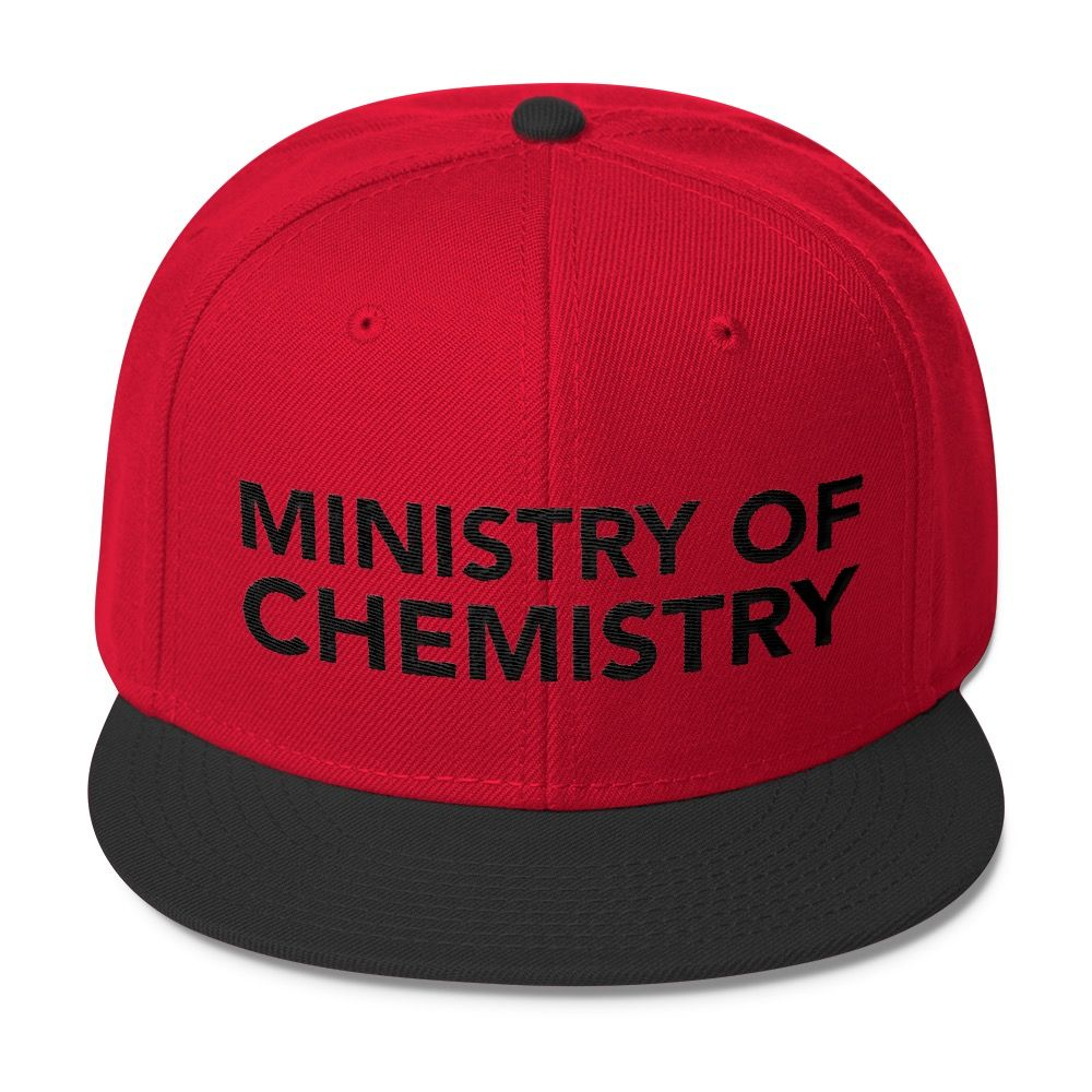 Ministry of Chemistry Cap Black Red