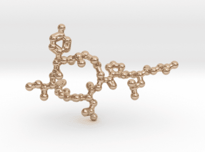 Oxytocin Molecule Necklace 14k Rose Gold