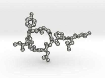 Oxytocin Molecule Necklace Sterling Silver