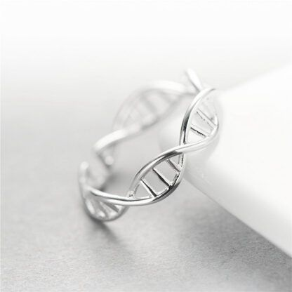 DNA Ring Sterling Silver 925 Side