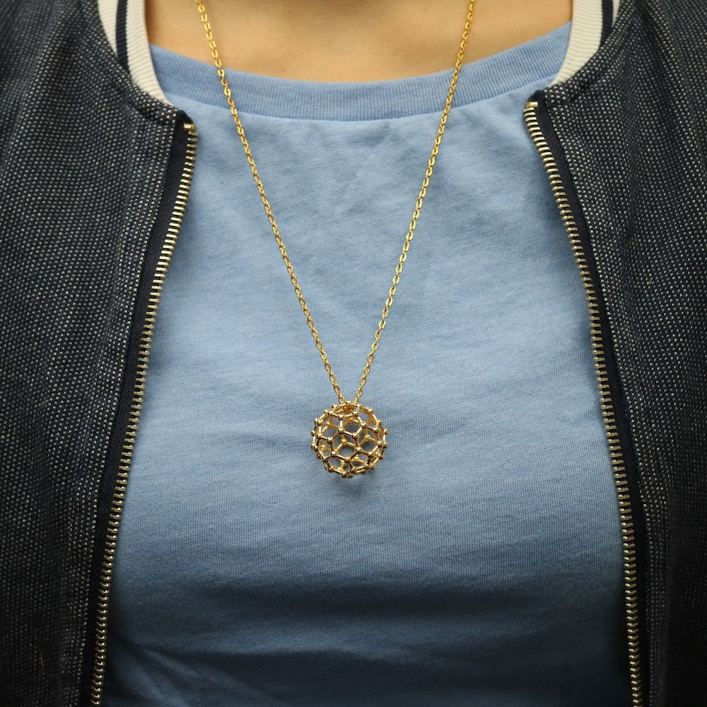 C60 Buckyball Necklace 3D Model