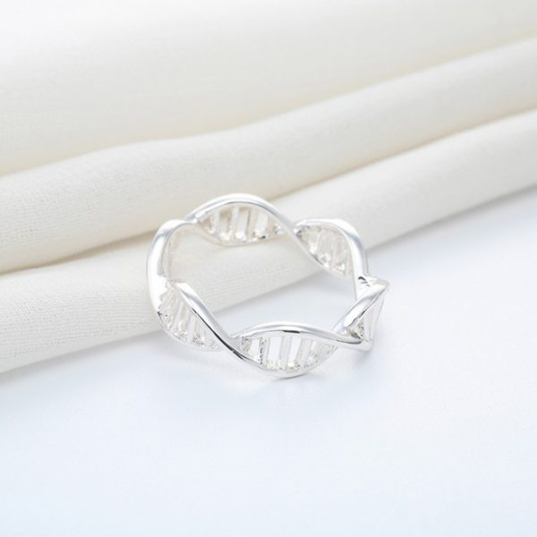 DNA Ring Silver