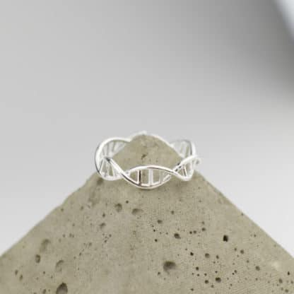DNA Ring Sterling Silver Pyramid