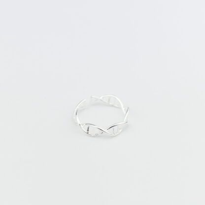 DNA Ring Sterling Silver Top