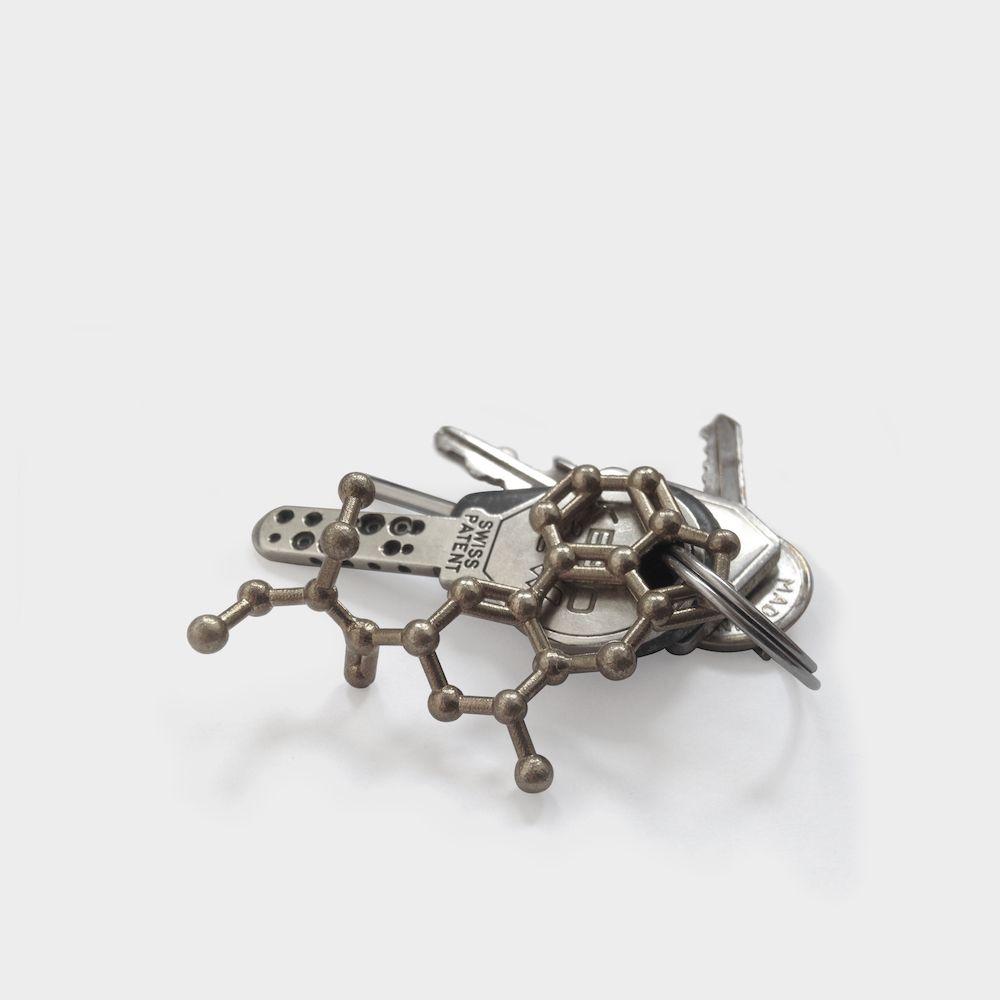 LSD Molecule Keychain Steel