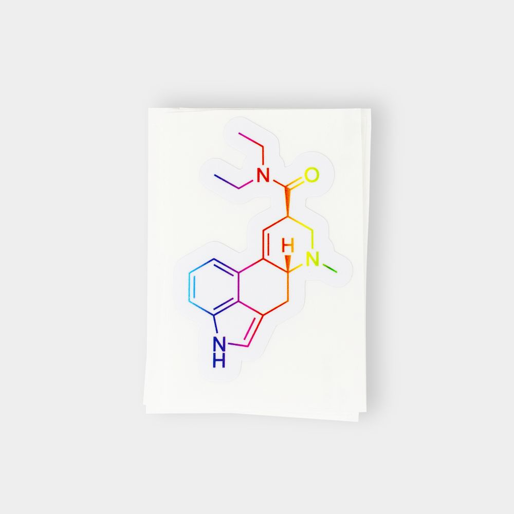 LSD Molecule Stickers Colorful
