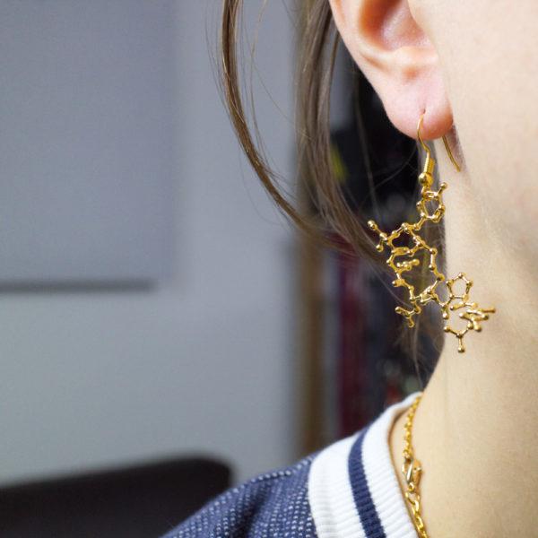 Oxytocin Earring Gold invivo