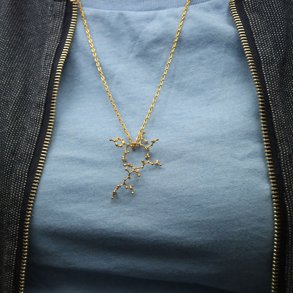 Oxytocin Molecule Necklace Model