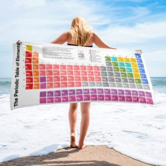 Periodic Table of Elements Beach Towel on the Beach