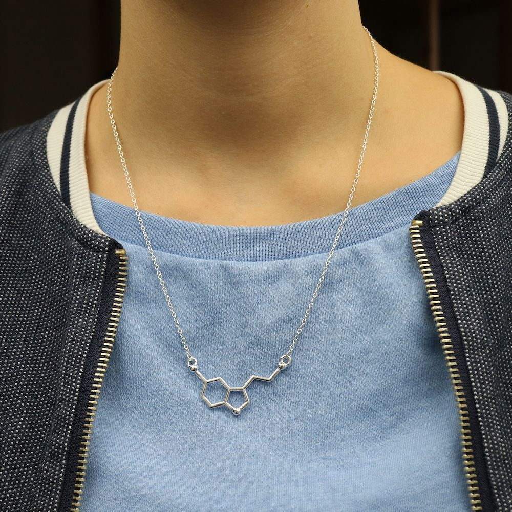 Serotonin Necklace Flat Silver