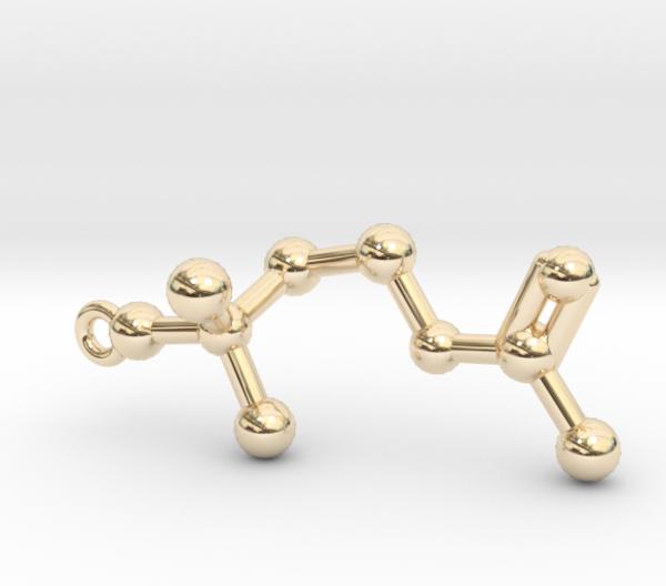 Acetylcholine Molecule Necklace 14k Gold