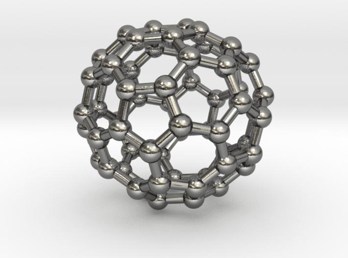 Buckyball (C60) Molecule Necklace Sterling Silver