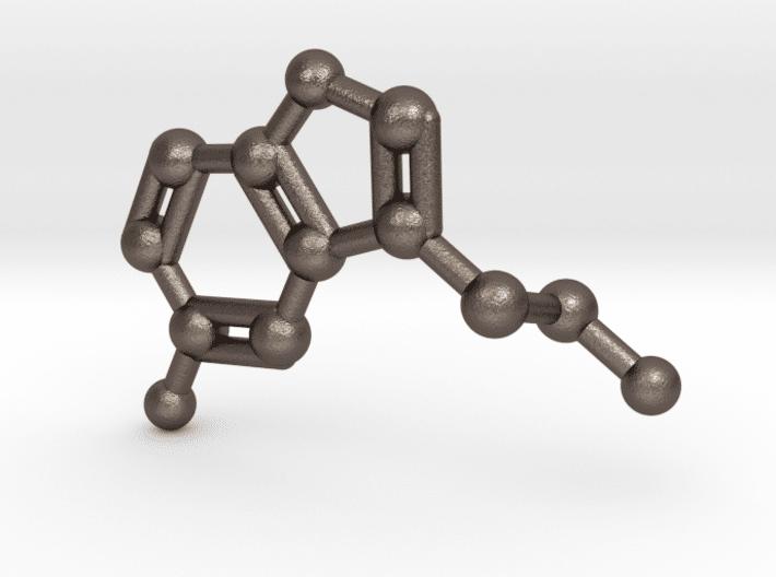 Serotonin Molecule Keychain Stainless Steel