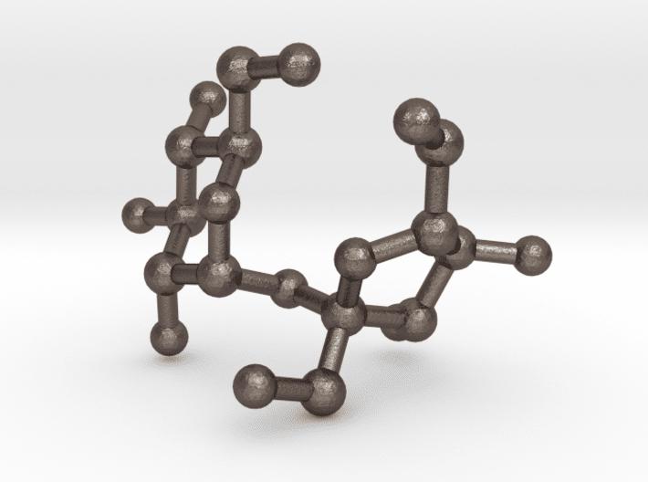 Sucrose (Sugar) Molecule Keychain Stainless Steel
