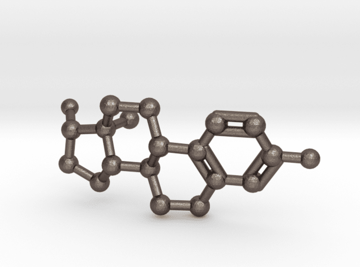 Estrogen Molecule Keychain Stainless Steel