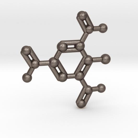 TNT Molecule Keychain Stainless Steel