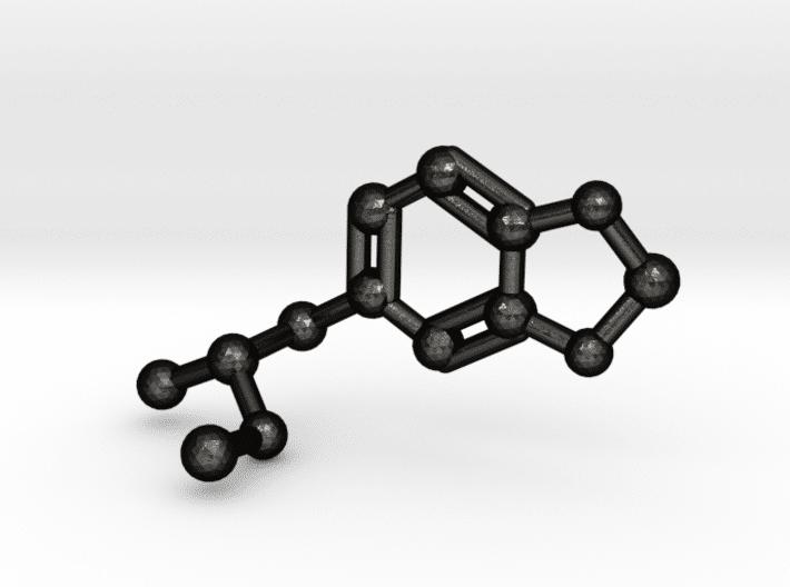 MDMA Molecule Keychain Matte Black Steel