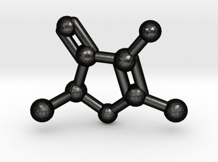 Furaneol Molecule Keychain Matte Black Steel