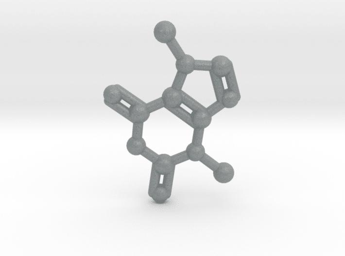 Theobromine Molecule Metallic Plastic