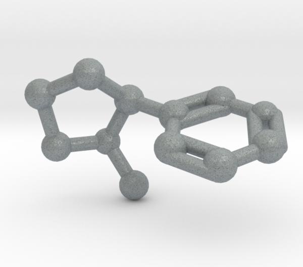 Nicotine Molecule Metallic Plastic