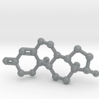 Testosterone Molecule Metallic Plastic