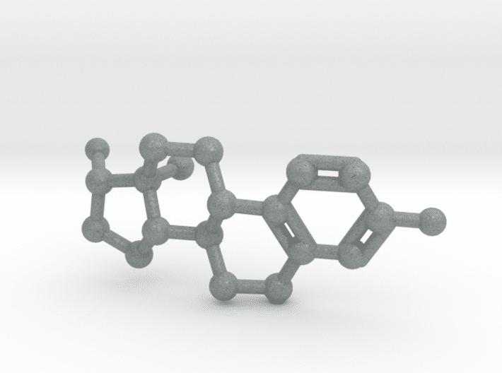 Estrogen Molecule Metallic Plastic