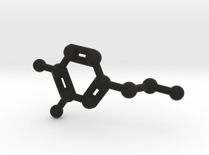 Dopamine Molecule Black Plastic