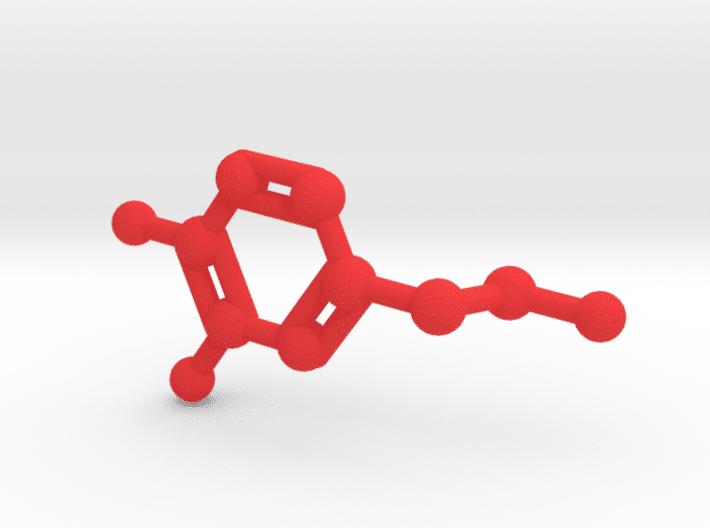 Dopamine Molecule Red Plastic