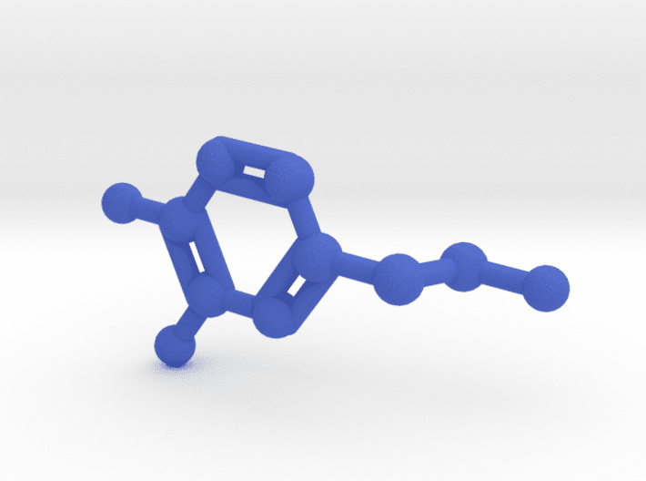 Dopamine Molecule Blue Plastic